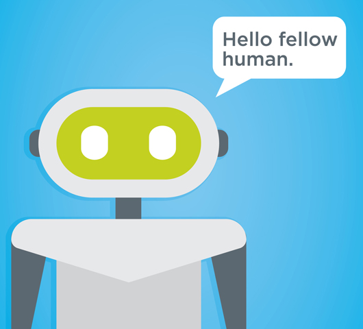 Chatbot saying Hello Fellow Human