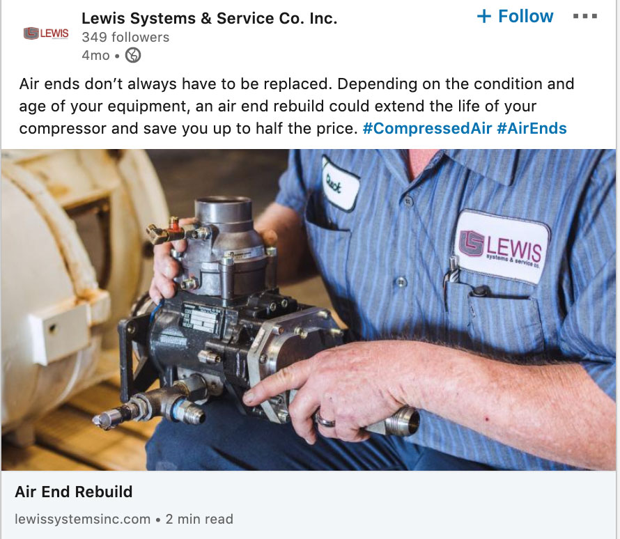Lewis Systems Social Post